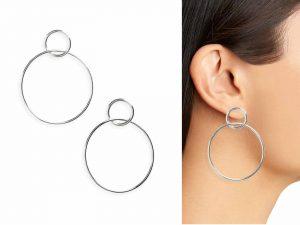 Halogen Double Circle Drop Earrings. Runway Jewelry Trends 2019