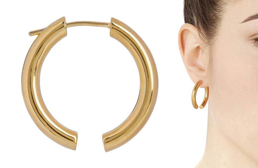 Broken Hoop Earrings by Maria Black, Runway Jewelry Trends 2019