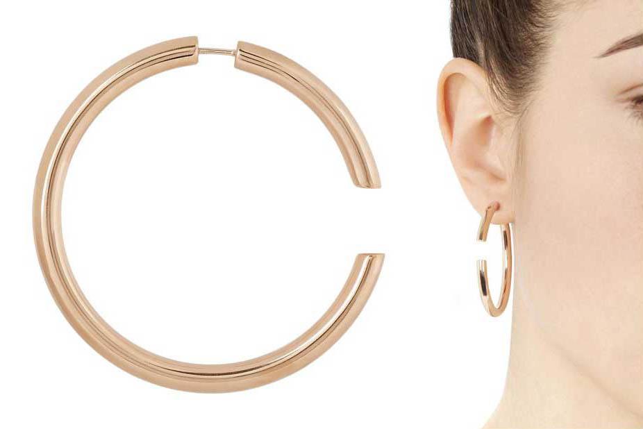 Disruption Hoop Earrings by Maria Black, Runway Jewelry Trends 2019