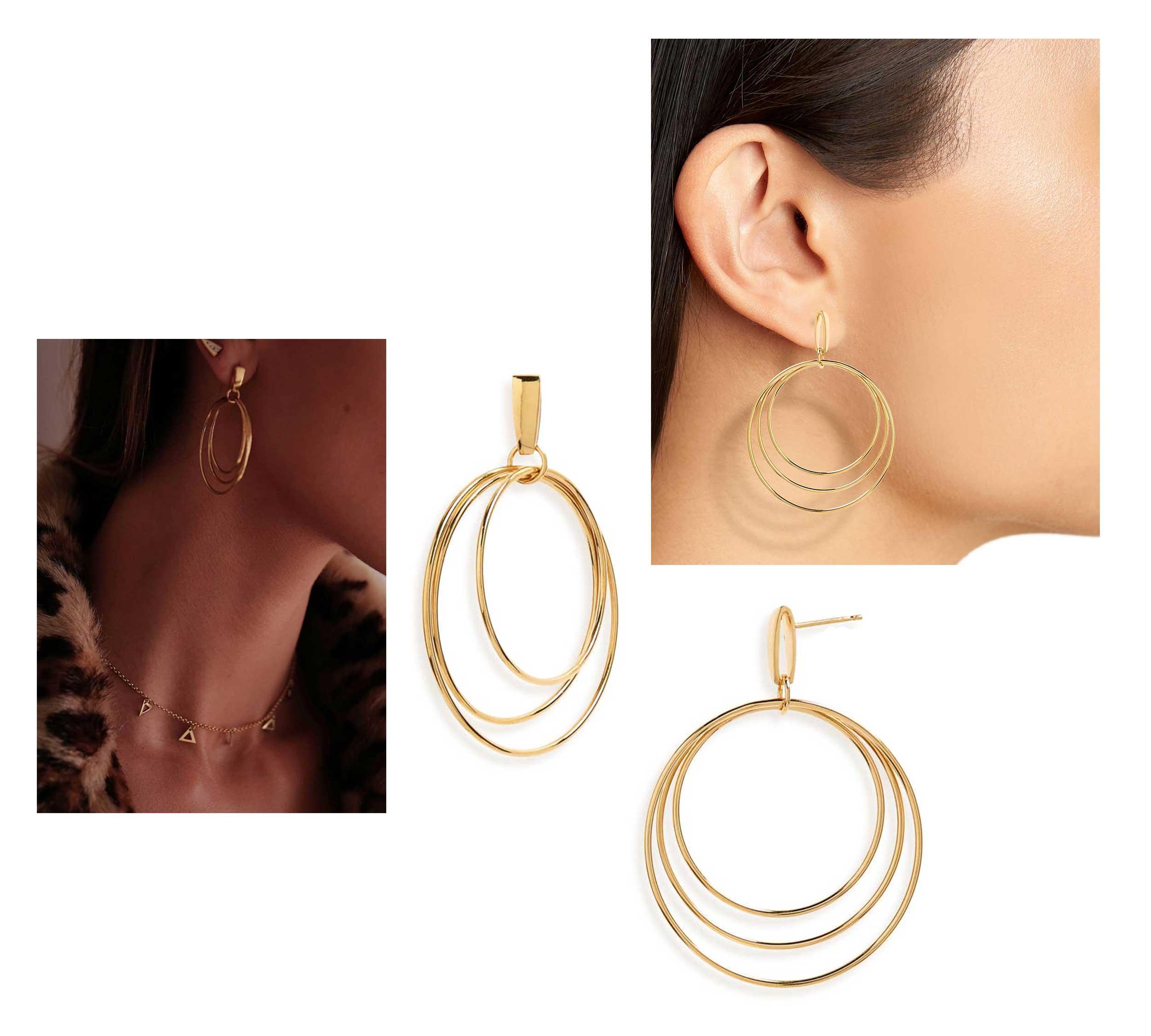 Mini Christy Vermeil Hoop Earrings by Natasha Schweitzer, Runway Jewelry Trends 2019