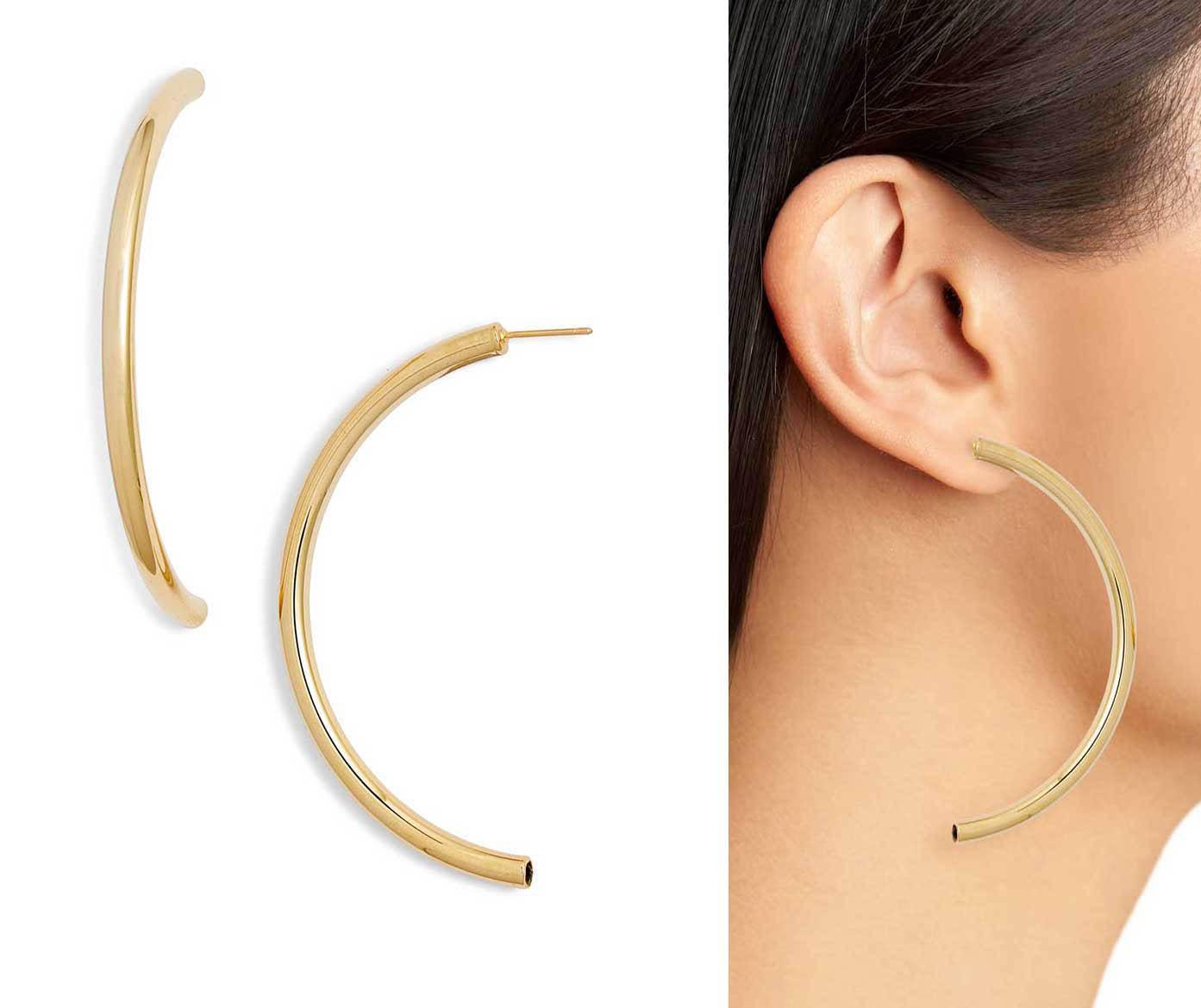 Venice Half Hoop Earrings by Bracha, Runway Jewelry Trends 2019