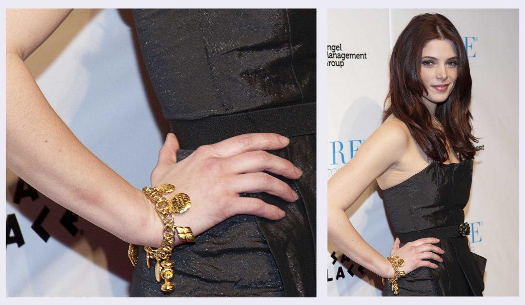 charms & pendants, ashley greene wearing vintage chanel charm bracelet, charm bracelet, personalized gift