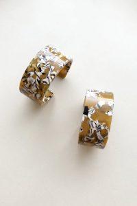 machete bangles celluloid jewelry