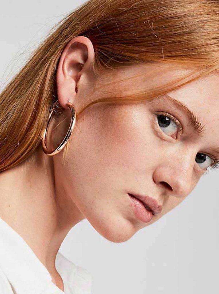 runway jewelry trends 2019, hoop earrings - GClassic Tube Hoop Earrings (Set) , Free People