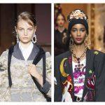 Hoop earrings, Runway Jewelry Trends 2018-2019, Simone Rocha, Dolce and Gabbana,