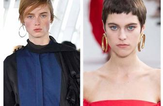 Runway jewelry trends 2019: Hoop earrings, variations on a classic